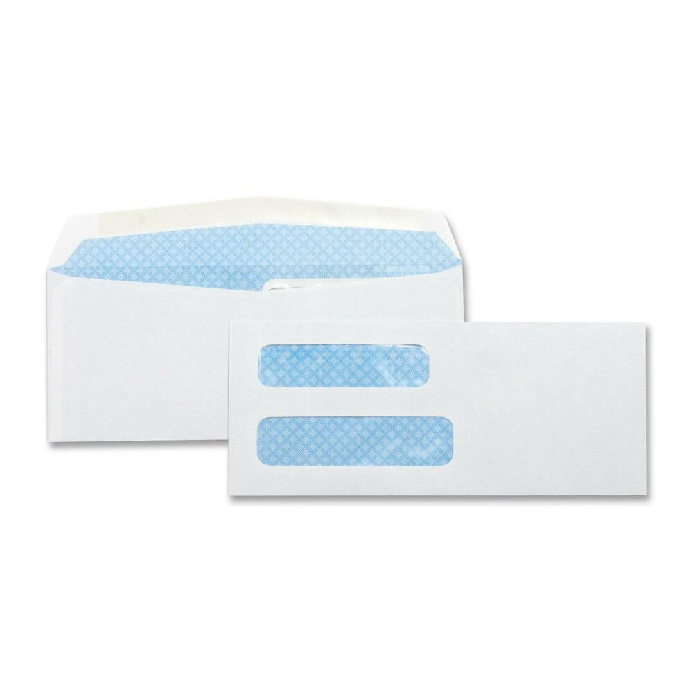 Business source double window envelopes no 8 5 8 3 5 8 for Window envelopes