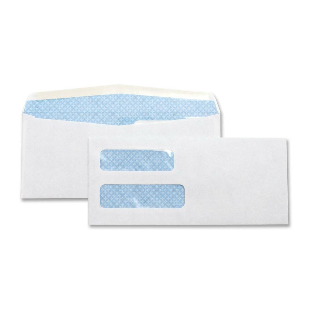 Business source double window envelope no 10 4 1 8 x9 1 2 for Double window envelope template