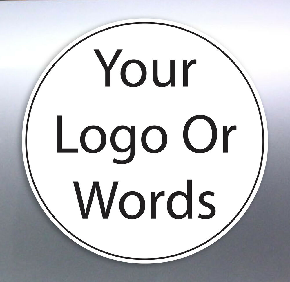 Details about 105 30 mm circle sticker custom your text words logo australian made free post
