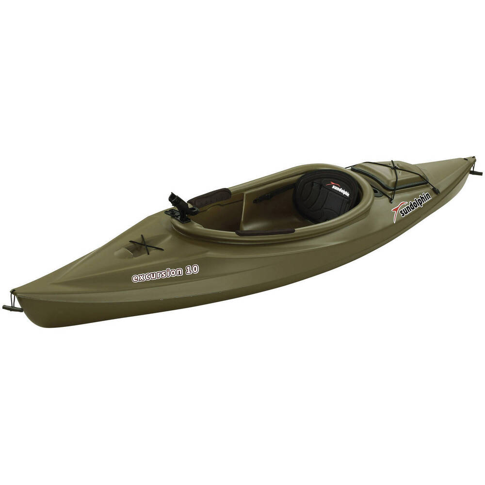 Sun dolphin green excursion 10 39 sit in fishing kayak with for Sit on vs sit in kayak for fishing