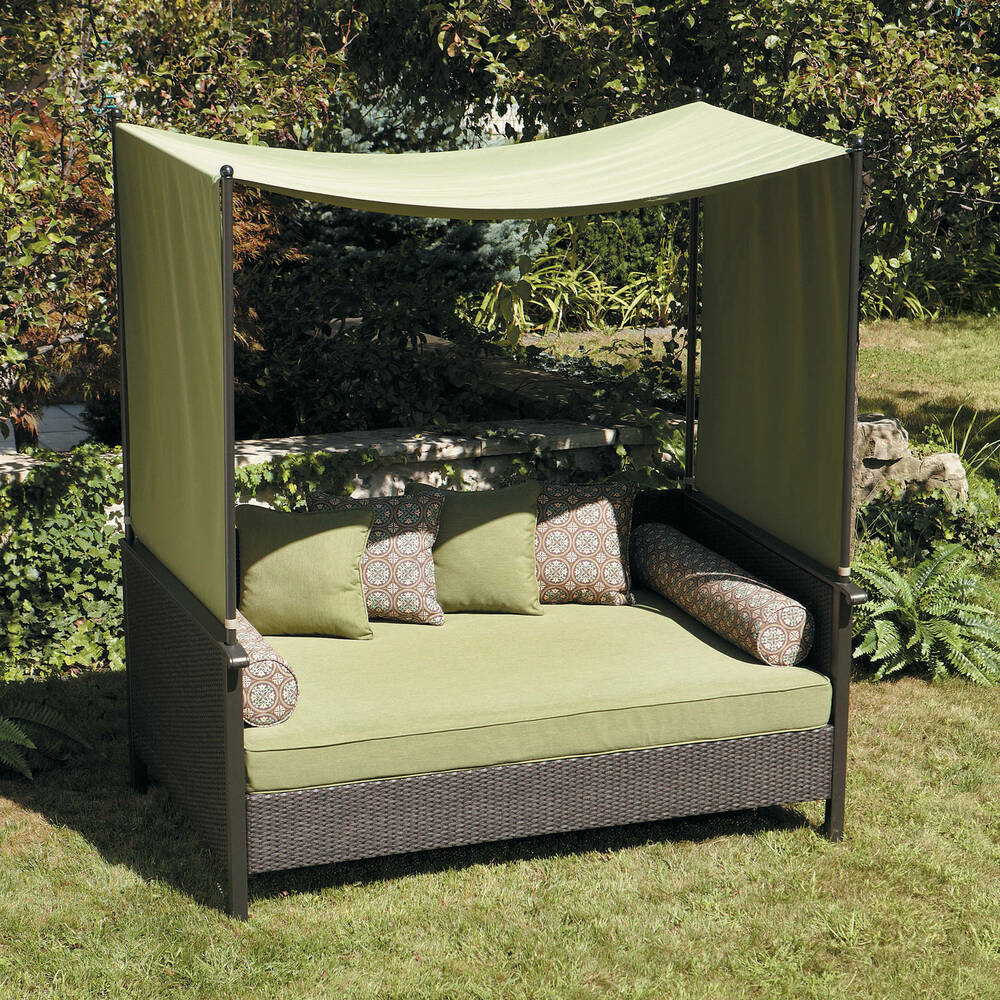 Better homes and gardens providence outdoor day bed ebay for Better homes and gardens hillcrest outdoor chaise lounge