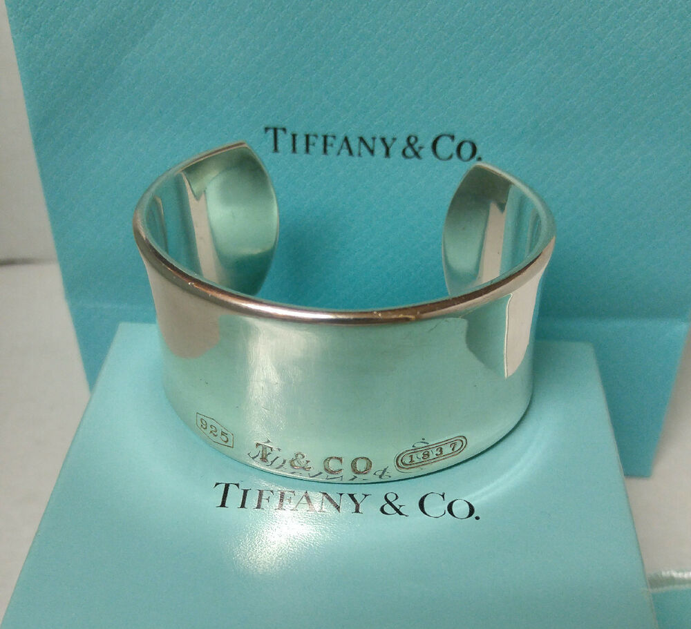 Tiffany & Co. Cuff Bracelet 1837 Sterling Silver 30mm Wide ...