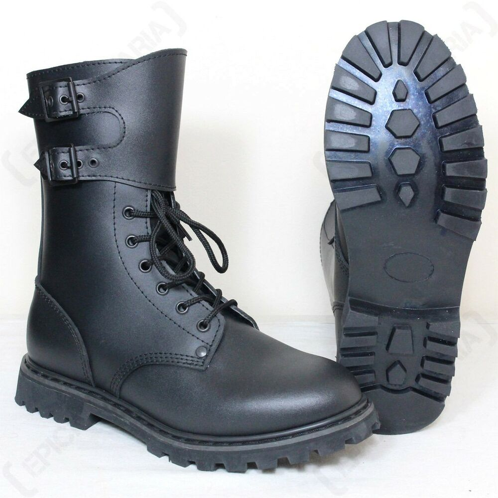 BLACK FRENCH RANGER BOOTS