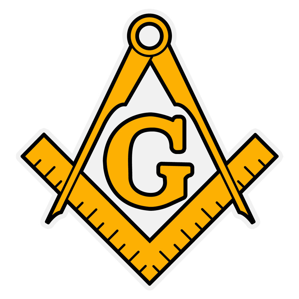 White Gold Masonic Charm
