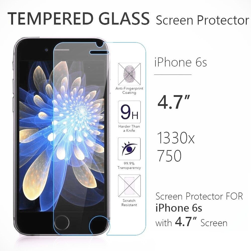 iphone screen protector glass apple iphone 6s 4 7 quot 9h premium real tempered glass 15432