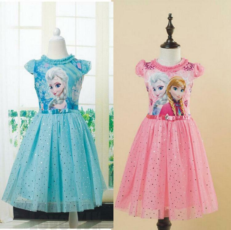 Pageant Kids Girls Frozen Princess Anna Elsa Party Dress