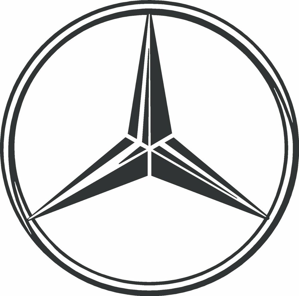 Mercedes benz logo vinyl decal sticker ebay for Mercedes benz sign in