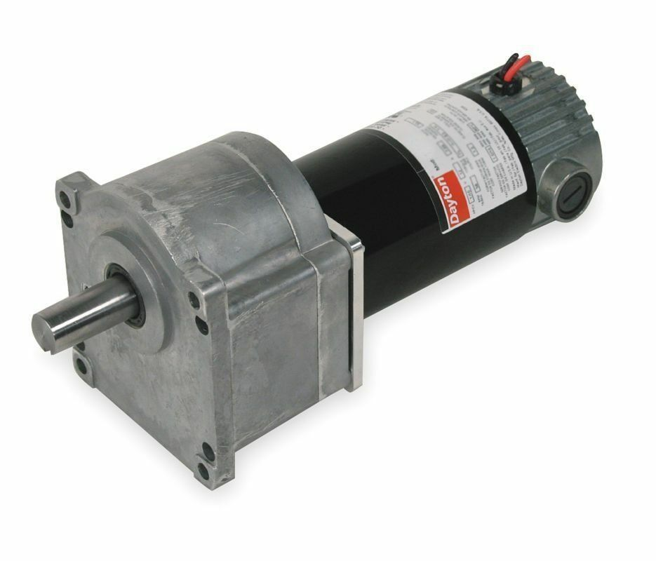 Dayton model 1lpy3 dc gear motor 12 rpm 1 10 hp 90vdc for 4 rpm gear motor
