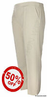 Ladies Elasticated Waist Trousers Stone Sizes 8 10 12 14 16 18 20 22 24 26