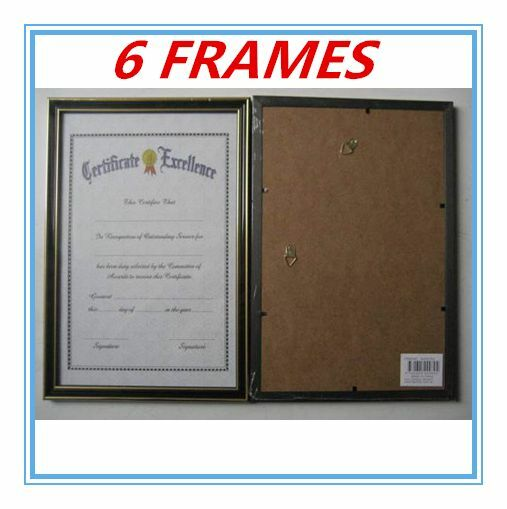 6 x black with gold trim a4 size document certificate. Black Bedroom Furniture Sets. Home Design Ideas