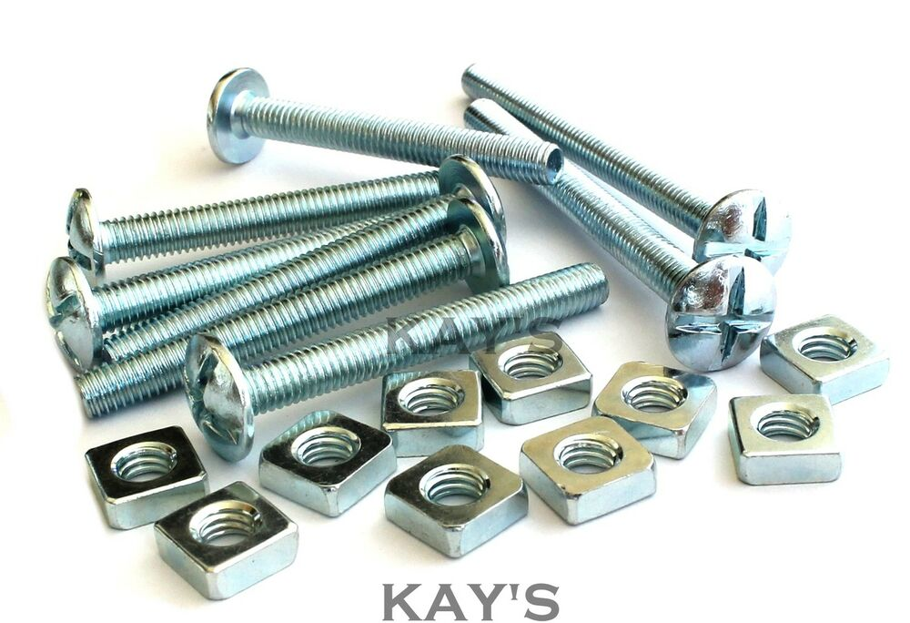 Roofing Bolts Square Nuts Cross Slotted Dome Head Screws