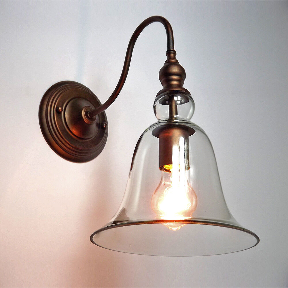 Anti-brass Vintage Retro Wall Lights Edison Lamp Lights Fixture Clear Glass Shap eBay