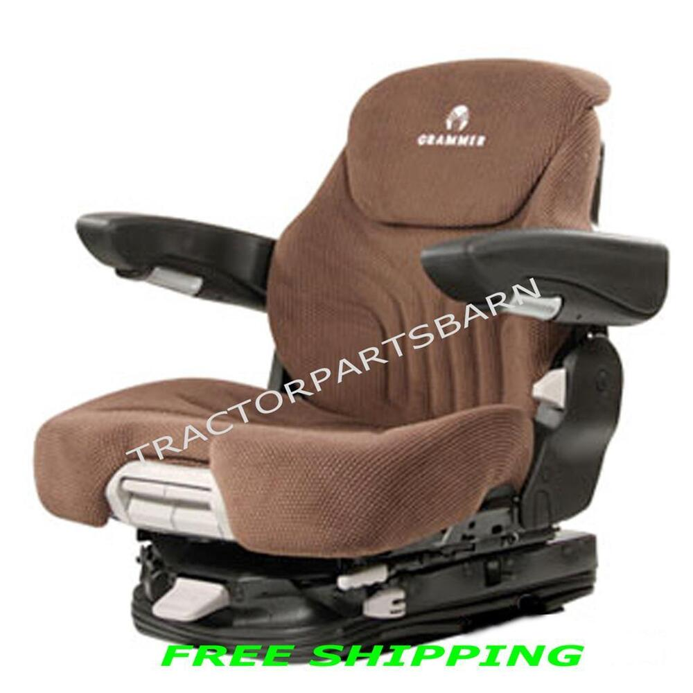 Sears Tractor Air Ride Seats : Kubota grammer msg air suspension seat brown or