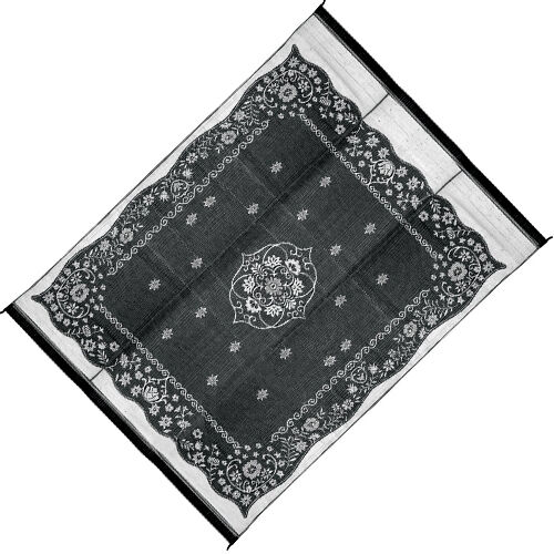 Reversible Outdoor Mat Black And White Rug Rv Camping