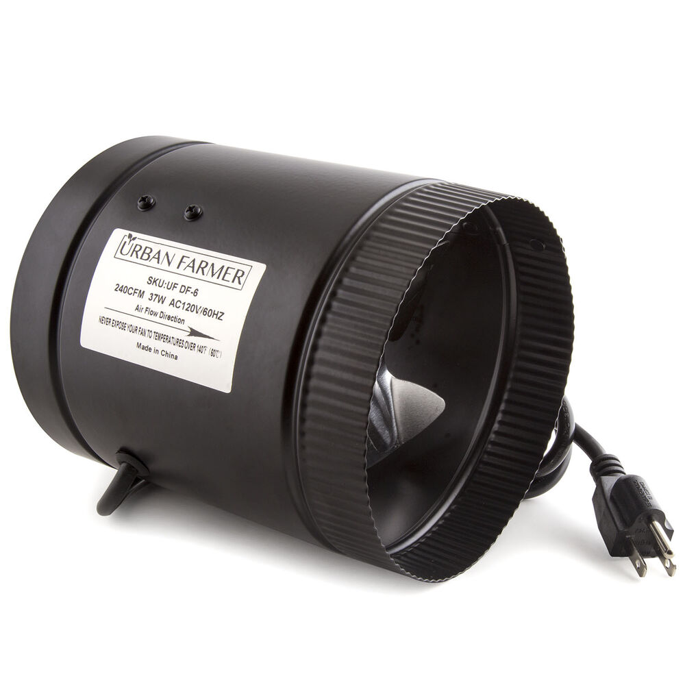 Heating Duct Booster Fans : Urban farmer quot inline duct booster fan ebay