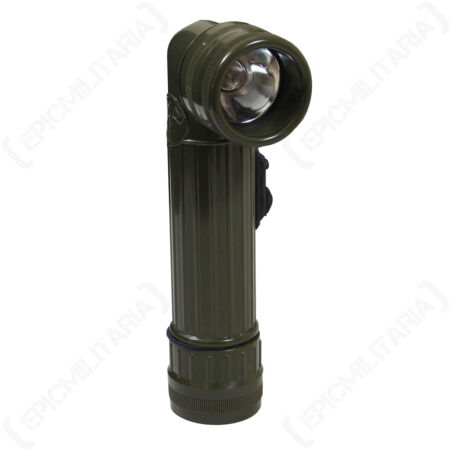 img-Angle Head Flashlight - Torch Military Army Cadets Coloured Filters Camping