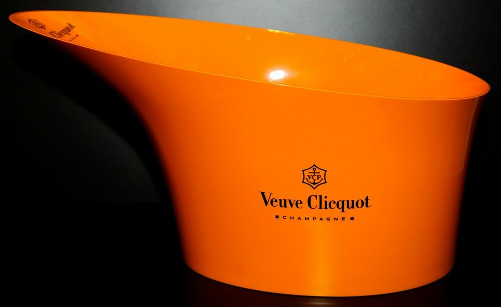 champagne veuve clicquot ponsardin ice bucket bowl vasque standard series orange ebay. Black Bedroom Furniture Sets. Home Design Ideas