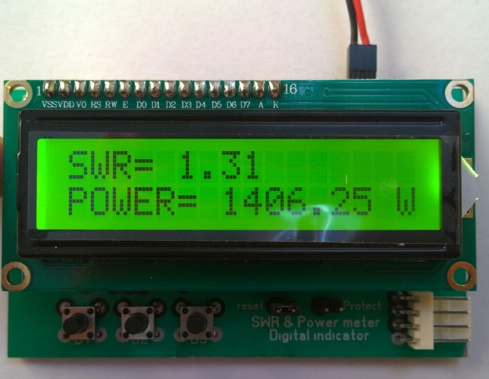 Digital Power Meter With Bms : Swr power meter lcd indicator with protection ldmos
