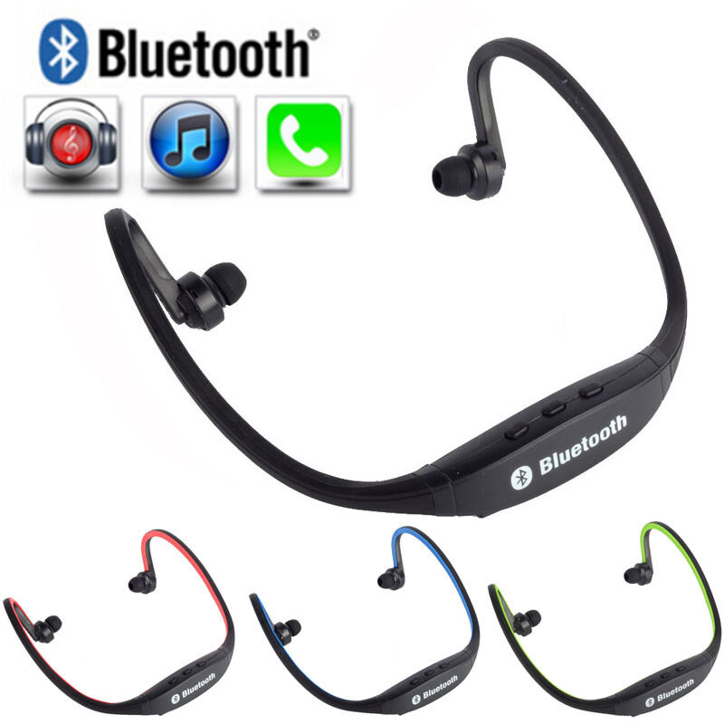 wireless earphone bluetooth headset sports headphone for cell phone pc ipad ipod ebay. Black Bedroom Furniture Sets. Home Design Ideas