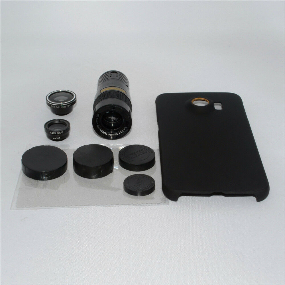 4in1 9x zoom telephoto marco camera lens case kit for. Black Bedroom Furniture Sets. Home Design Ideas