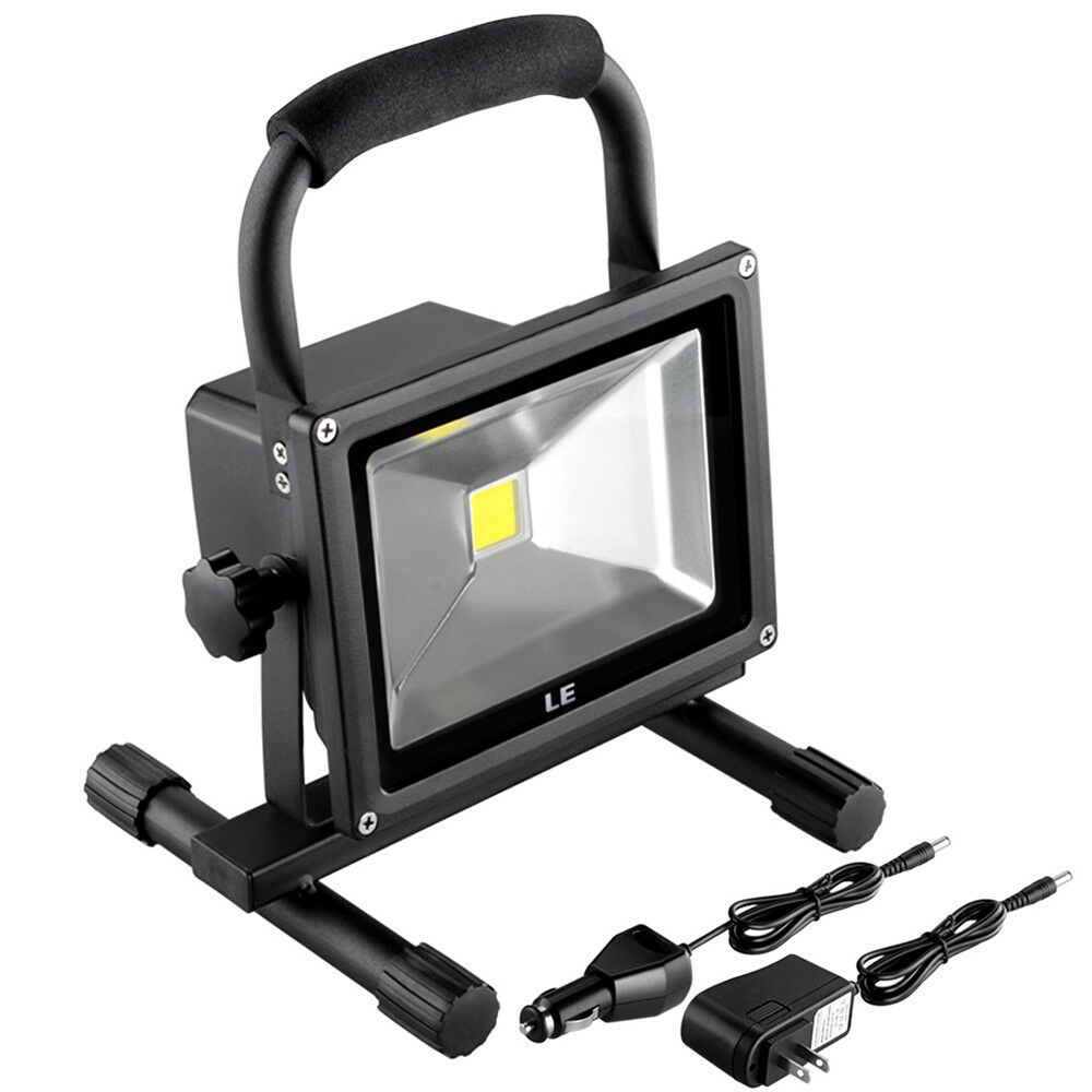 20W Portable Work Spot Light Rechargeable LED Flood ...