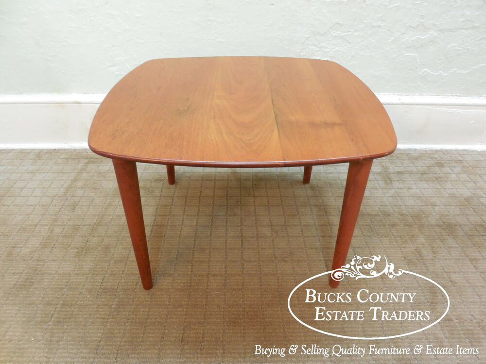 Vintage 1960s Danish Modern Solid Teak Coffee or End Table ...