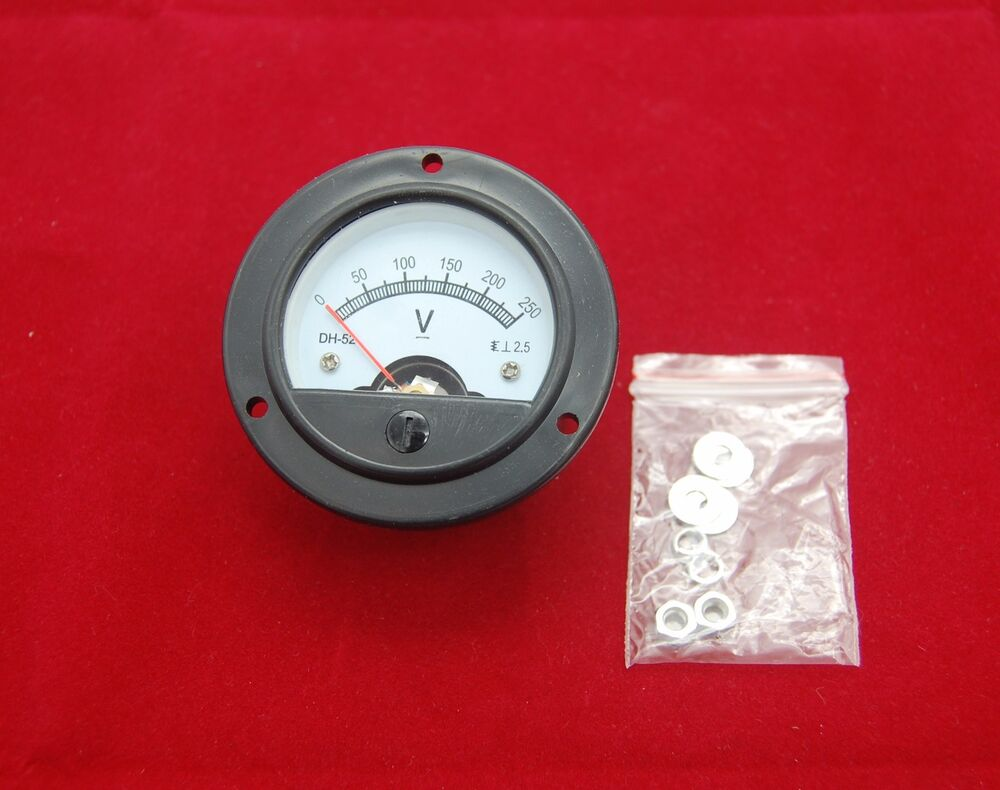 Analog Panel Meter : Dc v round analog voltmeter voltage panel meter dia