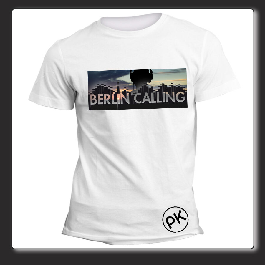 t shirt unisex berlin calling paul kalkbrenner elettronic. Black Bedroom Furniture Sets. Home Design Ideas