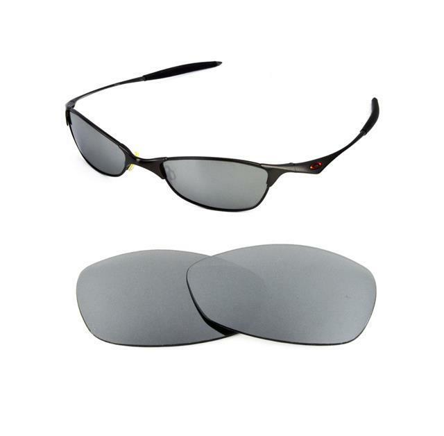 8a6427b8ca3 Details about NEW POLARIZED TITANIUM REPLACEMENT LENS FOR OAKLEY VINTAGE  WIRETAP SUNGLASSES