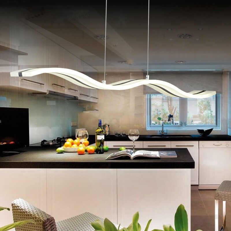 Led pendant lamp ceiling lights chandelier dining table for Modern kitchen table lighting
