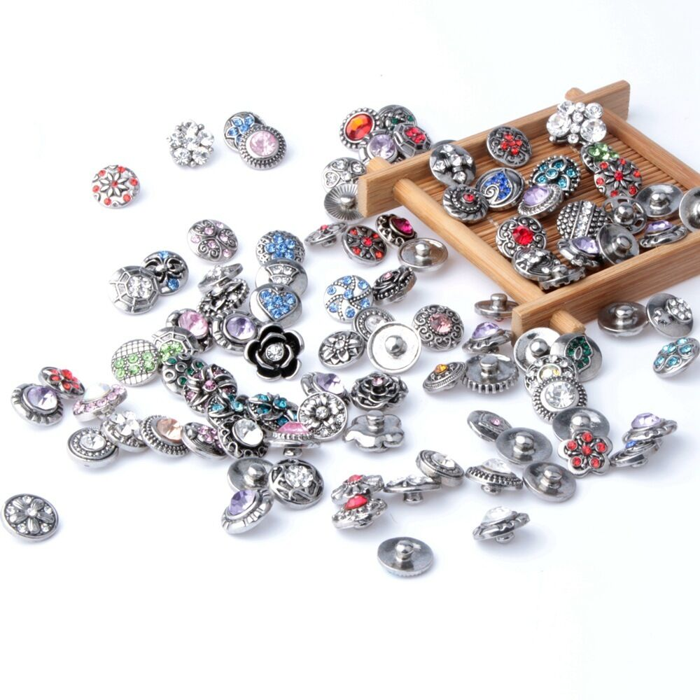 Wholesales 12mm Interchangeable metal mini Buttons Jewelry ...