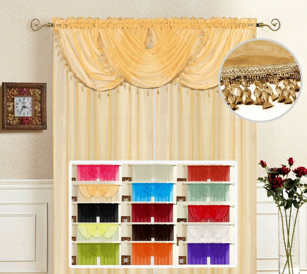 Solid Sheer Voile Window Treatment Lisa Curtain Panel