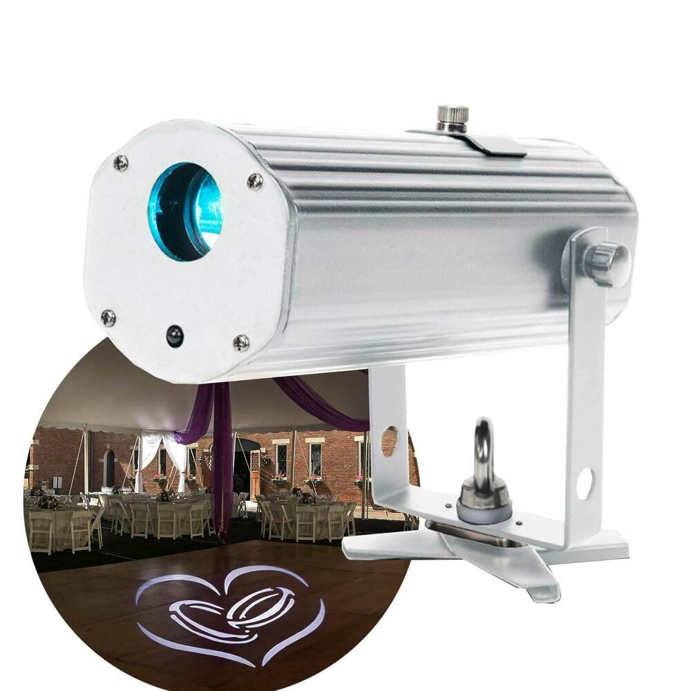 american dj pinpoint gobo battery powered led gobo monogram projector open box ebay. Black Bedroom Furniture Sets. Home Design Ideas