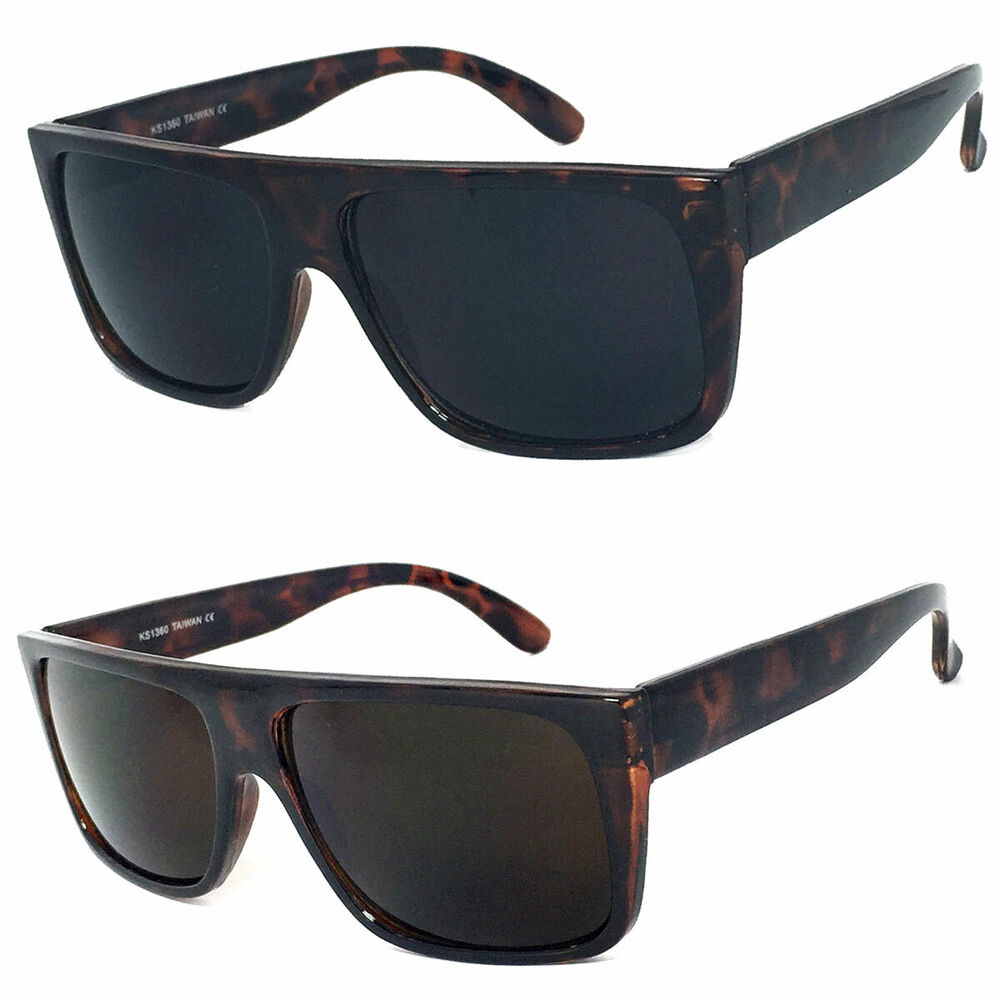 Retro Square Frame Sunglasses Mens Womens Flat Top Square ...
