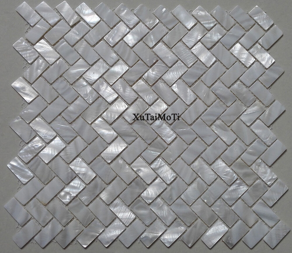 11PCS White Shell Mosaic Tile Mother Of Pearl Wall Zip