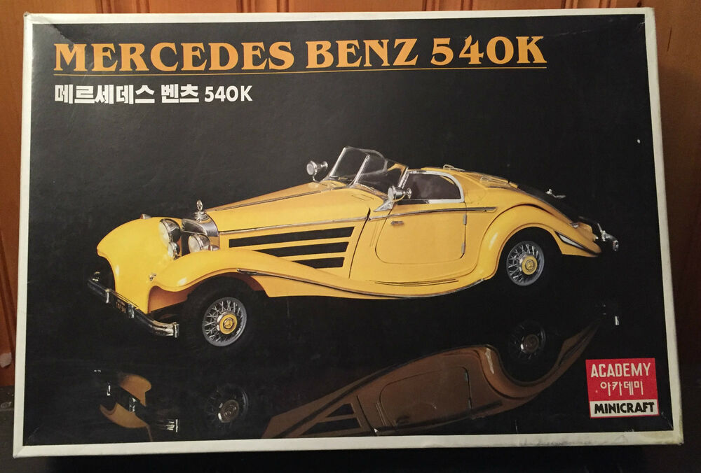 Mercedes benz 540k academy minicraft model kit 1 16th for Mercedes benz academy