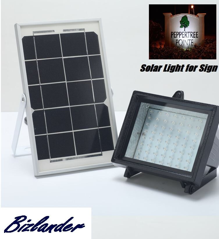 Bizlander 174 5w60led Solar Flood Light For Commercial Grade