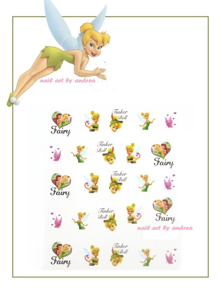 Disney Fairy Tinkerbell Nail Art Design Decals Water Transfers Stickers 1803 Ebay