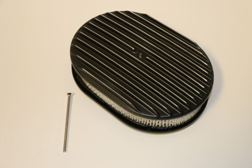 Nostalgia Air Cleaners : Quot oval black finned polished aluminum classic nostalgia