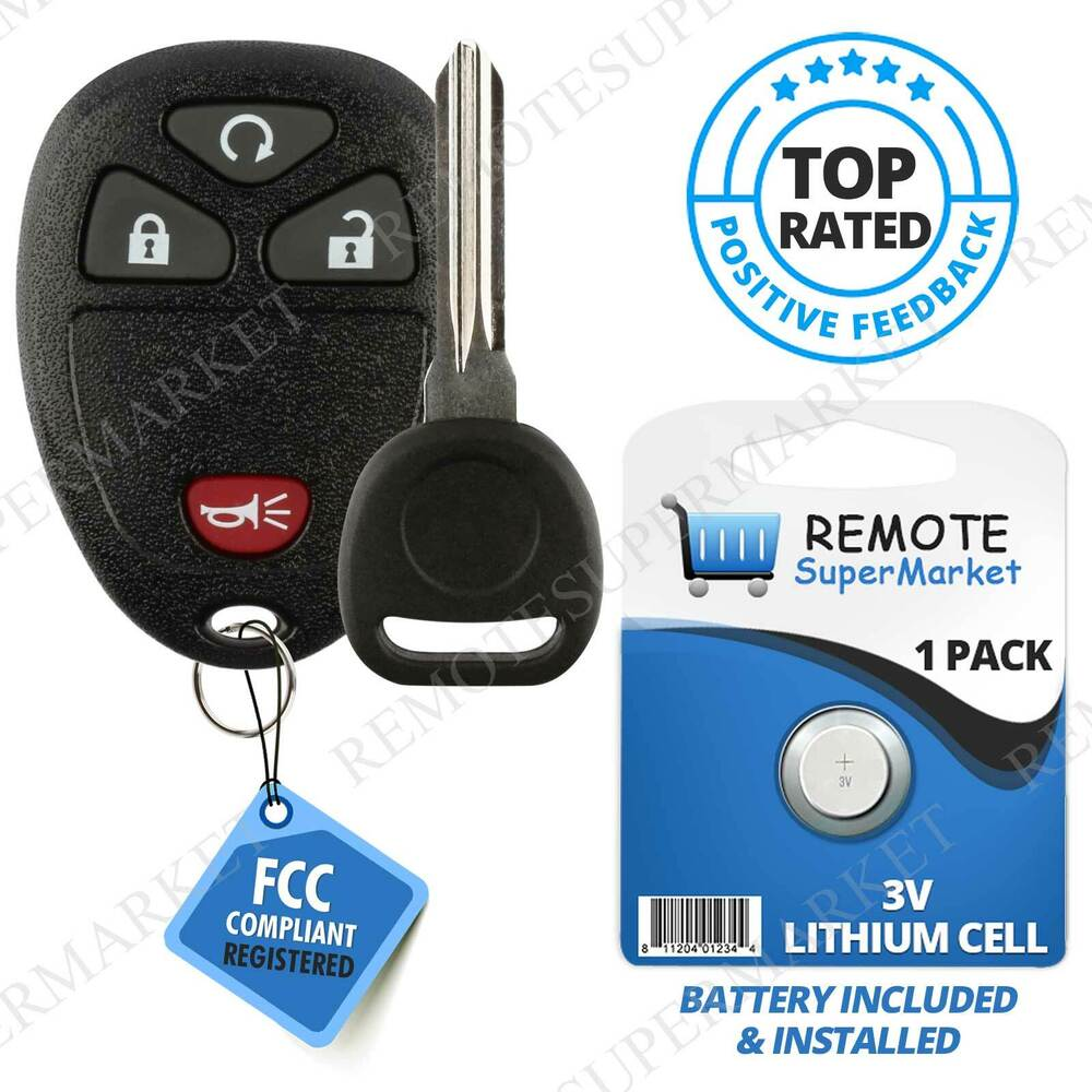 Smart Car Key Replacement >> Replacement for 2007-2013 Chevy Silverado Suburban 1500 Remote Key Fob 4b rs Set | eBay