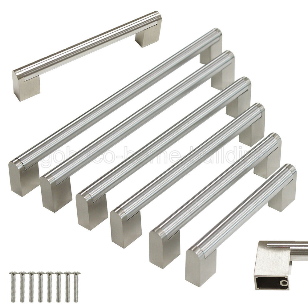 Modern Kitchen Cabinet Handles And Pulls: Modern Boss Bar Satinless Steel Cabinet Door Handles