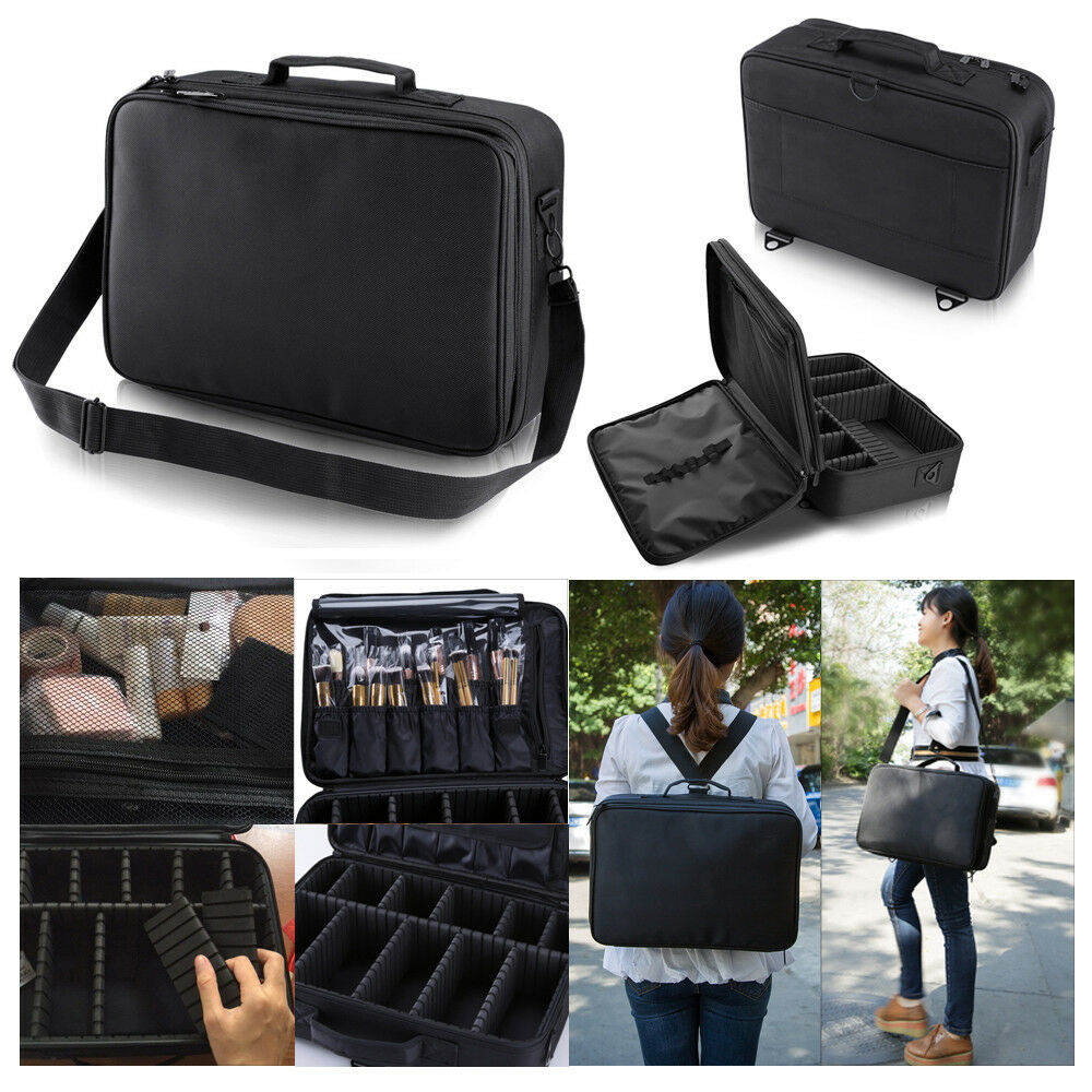 makeup bag case cosmetic storage diy trolley organizer handle artist travel kit ebay. Black Bedroom Furniture Sets. Home Design Ideas