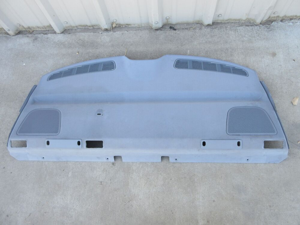 Bmw 528i E39 Rear Deck Speaker Cover Panel Gray Behind