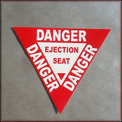 Danger Ejection Seat Sticker Funny Decal Vinyl Car Aircraft Warning Sign Gamer