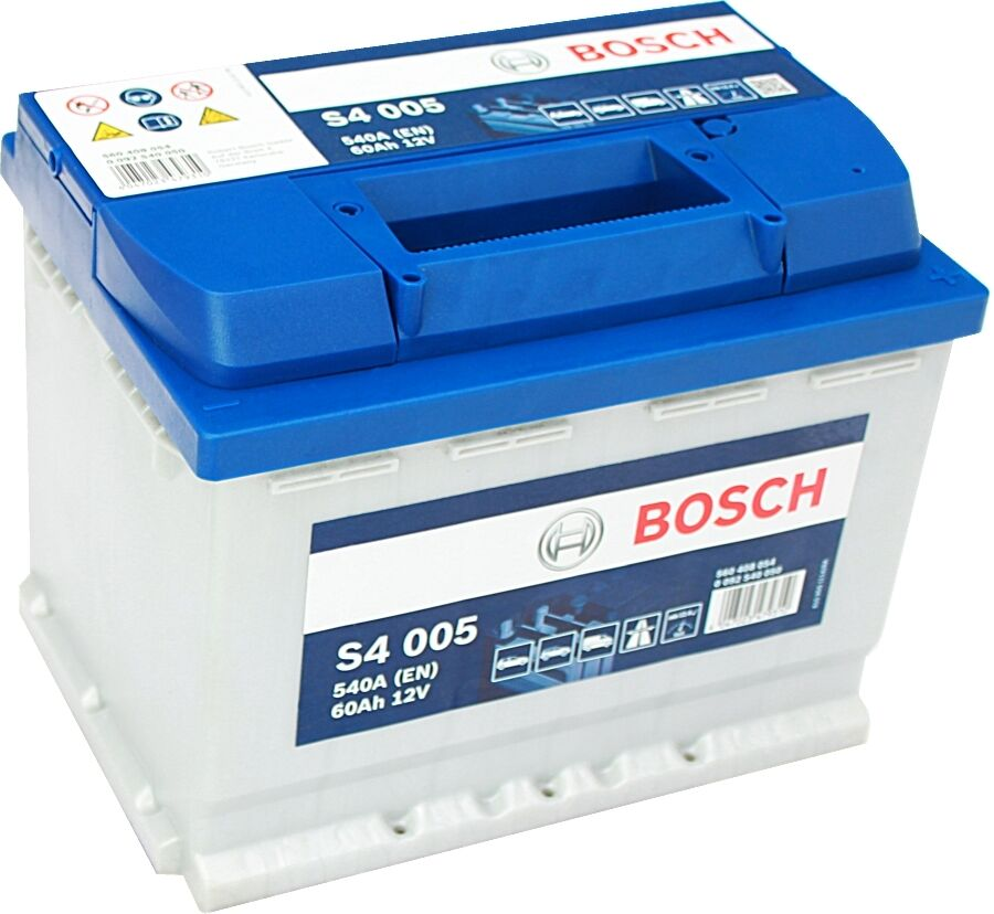 car battery bosch s4005 12v 60ah 4 years wty sealed. Black Bedroom Furniture Sets. Home Design Ideas