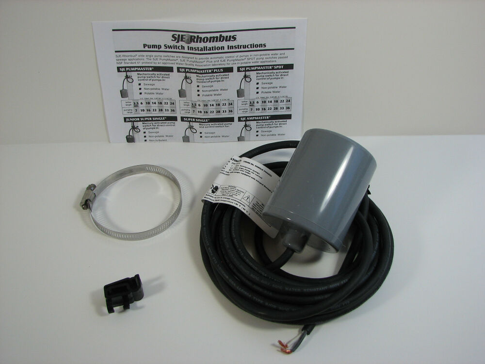 Sje Pumpmaster Float Switch For Water Well