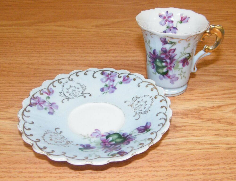 Vintage Lefton China Hand Painted Tea Cup Amp Saucer W
