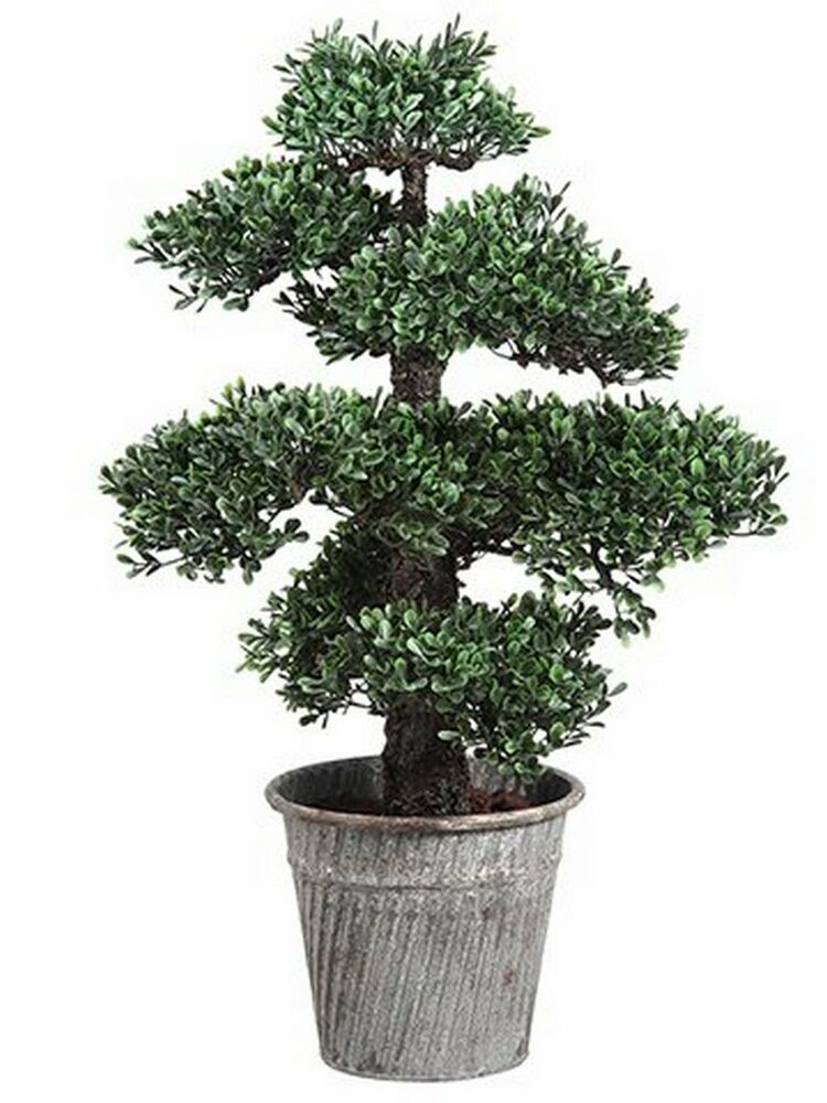 24 Quot Artificial Bonsai Tree Plant Topiary Arrangement In