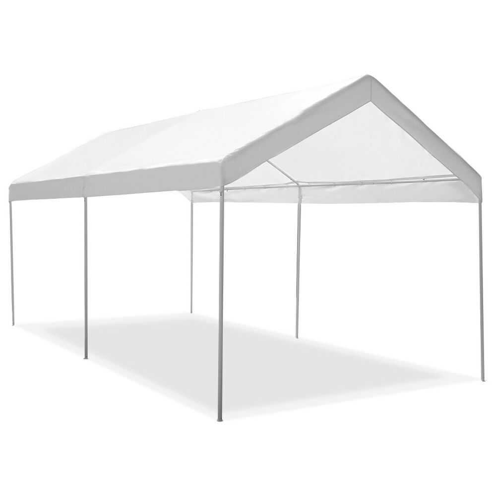 Portable Carport Covers : Steel frame canopy shelter portable car carport