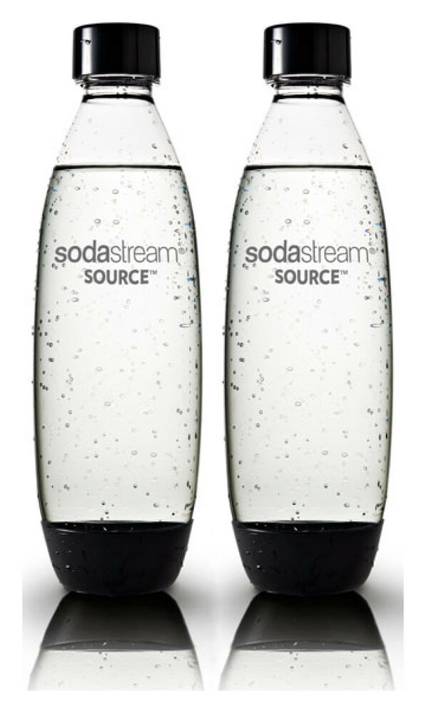 2 x sodastream 1 liter flasche f r sodastream play source and power modelle ebay. Black Bedroom Furniture Sets. Home Design Ideas